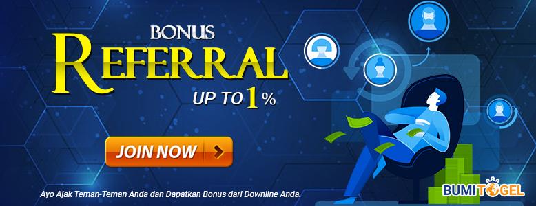 Bonus Referral Up To 1%
